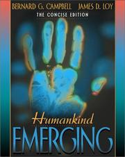 Cover of: Humankind Emerging, Concise Edition