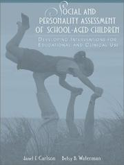 Cover of: Social and Personality Assessment of School-Aged Children