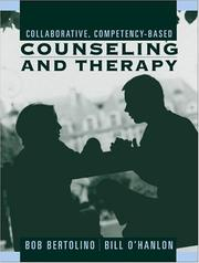 Cover of: Collaborative, Competency-Based Counseling and Therapy