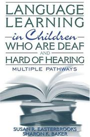 Cover of: Language Learning in Children Who Are Deaf and Hard of Hearing