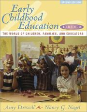Cover of: Early Childhood Education, Birth-8