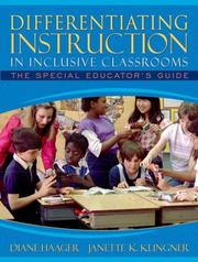 Cover of: Differentiating Instruction in Inclusive Classrooms