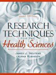 Cover of: Research Techniques for the Health Sciences (3rd Edition)