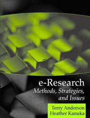 Cover of: E-Research