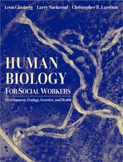 Cover of: Human Biology for Social Workers