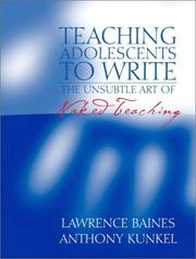Cover of: Teaching Adolescents to Write