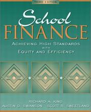 Cover of: School Finance
