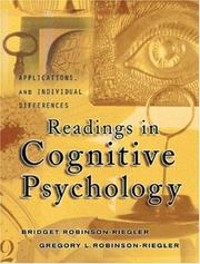 Cover of: Readings In Cognitive Psychology