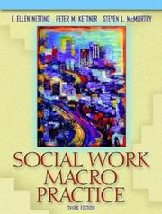 Cover of: Social Work Macro Practice, Third Edition
