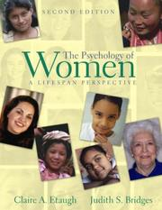 Cover of: The Psychology of Women