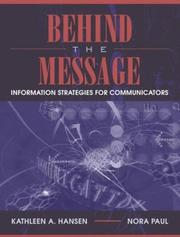 Cover of: Behind the Message