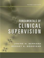 Cover of: Fundamentals of Clinical Supervision, Third Edition