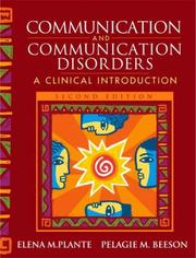 Cover of: Communication and Communication Disorders