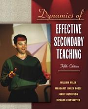 Cover of: Dynamics of Effective Secondary Teaching, Fifth Edition