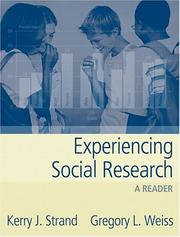 Cover of: Experiencing Social Research