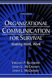Cover of: Organizational Communication for Survival