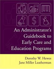 Cover of: An Administrator's Guidebook To Early Care And Education Programs