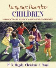 Cover of: Language Disorders in Children
