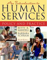Cover of: An Introduction to Human Services