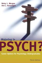 Cover of: Majoring in Psych?
