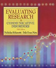 Cover of: Evaluating Research in Communicative Disorders (5th Edition)