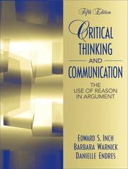 Cover of: Critical Thinking and Communication