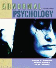 Cover of: Abnormal Psychology (13th Edition) (MyPsychLab Series)