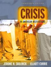 Cover of: Crisis in American Institutions (13th Edition)