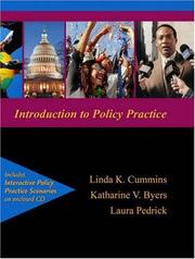 Cover of: Introduction to Policy Practice