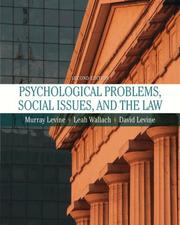 Cover of: Psychological Problems, Social Issues, and the Law (2nd Edition)