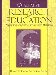 Cover of: Qualitative Research for Education