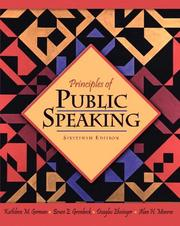 Cover of: Principles of Public Speaking (16th Edition) (MySpeechLab Series)