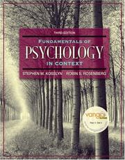 Cover of: Fundamentals of Psychology in Context (3rd Edition) (MyPsychLab Series)