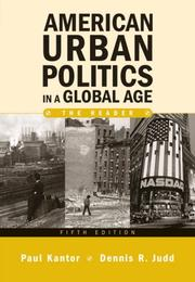 Cover of: American Urban Politics in a Global Age