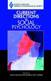 Cover of: Current Directions in Social Psychology (Association for Psychological Science Readers)