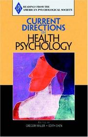 Cover of: Current Directions in Health Psychology (Association for Psychological Science Readers)