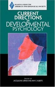 Cover of: Current Directions in Developmental Psychology (Association for Psychological Science Readers)