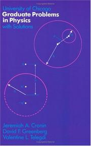Cover of: University of Chicago Graduate Problems in Physics with Solutions