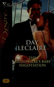 Cover of: The Billionaire's Baby Negotiation