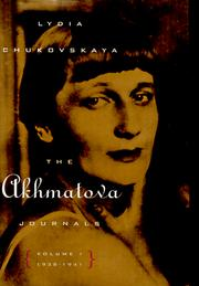 Cover of: The Akhmatova Journals