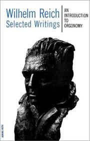 Cover of: Wilhelm Reich Selected Writings