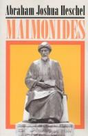 Cover of: Maimonides