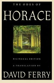 Cover of: The Odes of Horace