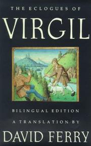 Cover of: The Eclogues of Virgil