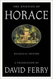 Cover of: The Epistles of Horace
