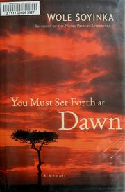 Cover of: You Must Set Forth at Dawn: A Memoir
