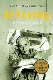 Cover of: de Kooning