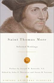 Cover of: Saint Thomas More