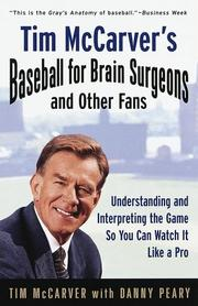 Cover of: Tim McCarver's Baseball for Brain Surgeons and Other Fans