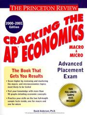 Cover of: Cracking the AP Economics (Macro & Micro), 2000-2001 Edition (Cracking the Ap Economics (Macro & Micro))